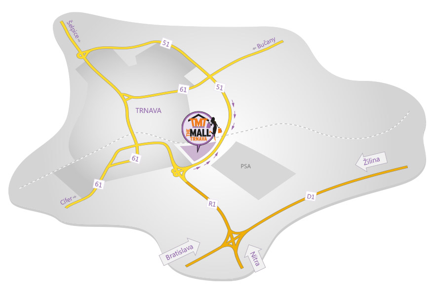 the-mall-trnava-mapa